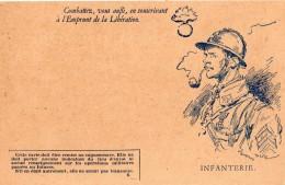 """FRANCHISE MILITAIRE """"COMBATTEZ VOUS AUSSI, EN SOUSCRIVANT A L'EMBRUNT DE LA LIBERATION"""" !"""" (INFANTERIE) - Marcophilie (Lettres)"""