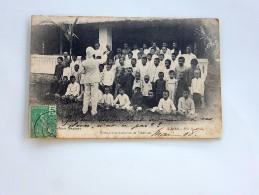 Carte Postale Ancienne : LAOS : VIENTIANE, Ecole Franco Laotienne, En 1908 - Laos