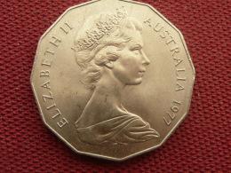 AUSTRALIE Monnaie De 50 Cents 1977 Superbe état - Monnaie Décimale (1966-...)