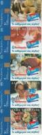 GREECE - Set Of 5 Cards, AB Super Markets, Tirage 35000, 06/03, Used - Télécartes