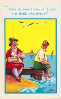 ALLAITEMENT Au SEIN -> DESSIN HUMORISTIQUE / BREASTFEEDING -> COMIC CARTOON - ANNÉE / YEAR ~ 1950 - '55 (u-426) - Femmes