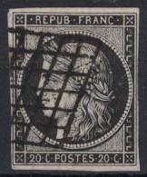 France - CERES N°3 NOIR SUR BLANC Oblitéré SANS DEFAUT / COTE 65€ - 1849-1850 Ceres