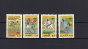 Zambia 1992 Olympic Games Barcelona, Judo, Cycling Etc. Set Of 4 MNH - Ete 1992: Barcelone