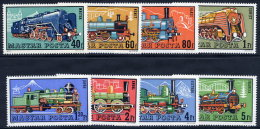 HUNGARY 1972 Steam Locomotives Set MNH / **.  Michel 2730-37 - Hungary