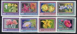 HUNGARY 1971 Botanic Gardens Set MNH / **.  Michel 2695-702 - Hungary