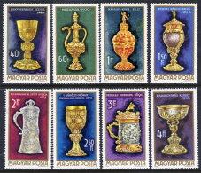 HUNGARY 1970 Art Of The Goldsmith Set MNH / **.  Michel 2625-32 - Hungary