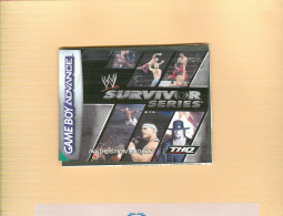 NINTENDO,GAME BOY ADVANCE, SURVIVOR SERIES,INSTRUCTION BOOKLET,2005, Formato 9 X 11,5 - Pagg.37 - Libri