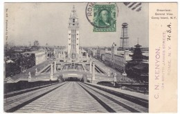 Coney Island Amusement Park New York, Dreamland General View, Chute The Chutes Ride, C1900s Vintage Postcard - Brooklyn