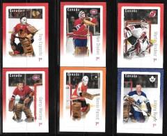 CANADA 2015, #2873-8,  THE SIX GREAT GOALIES OF THE NHL,  Gardien De But Et Masque , 6 Oversize Rate Stamps - Blocs-feuillets