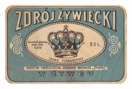 Ancienne Étiquette Bière Brasserie Zywiec Pologne (Beer Label Bieretiketten) - Bière