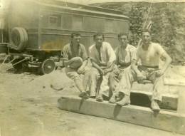 Syrie Djezireh Hassaké Mandat Militaire Francais Wagon De Train? Ancienne Photo Amateur 1929 - War, Military