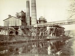 France Lorraine? Usine Acierie Riviere Pont Ancienne Photo Amateur 1900 - Places