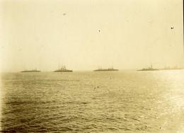 France Saint Nazaire ? Bateaux Militaires Français Marine Ancienne Photo Amateur 1900´s