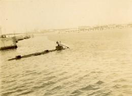 France Saint Nazaire ? Sous Marin Militaire Français Ancienne Photo Amateur 1900´s - Boats