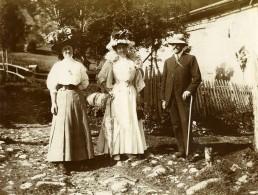 Vie Quotidienne En France Promenade Mode Belle Epoque Ancienne Photo Amateur 1900 - Anonymous Persons