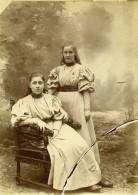Vie Quotidienne En France Jeunes Filles Ancienne Photo Amateur 1900 - Anonymous Persons