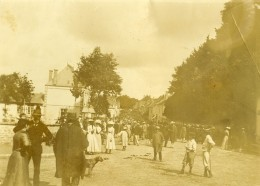 Vie Quotidienne En France Jour De Marché Au Village Ancienne Photo Amateur 1900 - Places