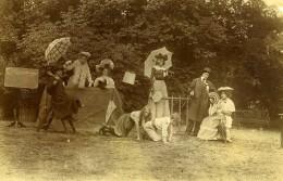 Vie Quotidienne En France Jeu Course De Chevaux Enfants Scene De Genre Ancienne Photo Amateur 1902 - Anonymous Persons