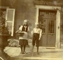 Vie Quotidienne En France Jeunes Enfants Costumes De Pecheurs Ancienne Photo Amateur 1900 - Anonymous Persons