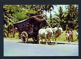 INDONESIA  -  Central Java  Gerobag  (Bullock Cart)  Unused Postcard - Indonesia