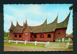 INDONESIA  -  West Sumatra  Batusankar  Traditional House  Unused Postcard - Indonesia