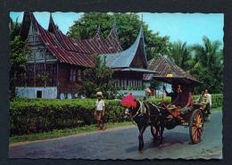 INDONESIA  -  West Sumatra  Minangkaban Vehicle  Unused Postcard - Indonesia