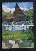 INDONESIA  -  North Sumatra  Samosir  Convention Hall  Dual View  Unused Postcard - Indonesia