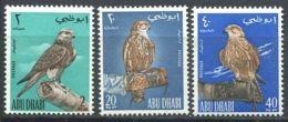 167 ABOU DHABI (Emirats) 1965 - Yvert 12/14 - Oiseau Faucon Rapace - Neuf ** (MNH) Sans Trace De Charniere - Abu Dhabi