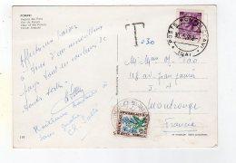 Juin16    75195      Timbre Sur Carte Et Cachet Pompei  1968 - Machine Stamps (ATM)