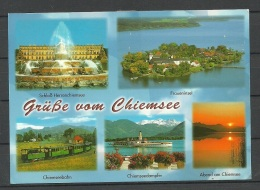 Deutschland Postkarte Chiemsee Gesendet Mit Marke - Chiemgauer Alpen