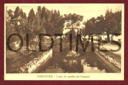 ABRANTES - LAGO DO JARDIM DO CASTELO - 1940 PC - Santarem