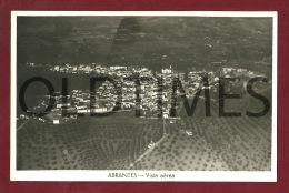 ABRANTES - VISTA AEREA - 1950 REAL PHOTO PC - Santarem