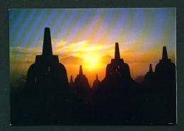 INDONESIA  -  Central Java  Surise At Borobudur Temple  Unused Postcard - Indonesia