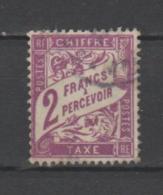 FRANCE / 1893 - 1935 / Y&T TAXE N° 42 : Duval 2F Lilas - Choisi - Oblitéré Cachet Rond - Taxes
