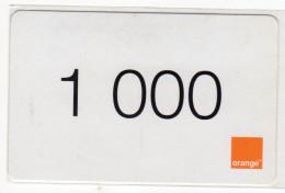 COTE D´IVOIRE RECHARGE GSM ORANGE 1000 - Ivory Coast
