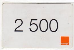 COTE D´IVOIRE RECHARGE GSM ORANGE 2500 - Ivory Coast
