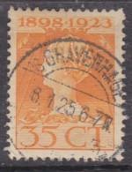 Netherlands, 1923, Coronation Anniversary, 35 Cents, Orange,  Used, - Period 1891-1948 (Wilhelmina)