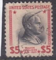 USA, 1938, $5 Red, Pres Coolridge   Used - Oblitérés