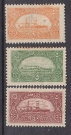 Turkey, 1921, Naval League  Fund Reaising Labels 1p Orange, 5p Green, 40p Red, MH * - Unused Stamps