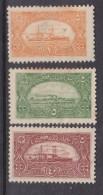 Turkey, 1921, Naval League  Fund Reaising Labels 1p Orange, 5p Green, 40p Red, MH * - Nuevos