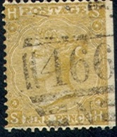 GREAT BRITAIN     46, Used, P#4, Sound, SCV$575   (gb040-2,   S.G.  98,   Pl#  4,  Straw....[16-EGE - 1840-1901 (Victoria)