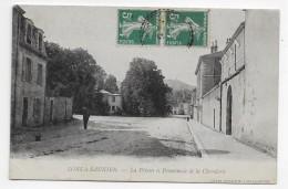 LONS LE SAUNIER - LA PRISON ET PROMENADE DE LA CHEVALERIE AVEC PERSONNAGE - PETIT PLI ANGLE BAS A GAUCHE - CPA VOYAGEE - Lons Le Saunier