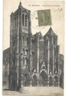 .201. BOURGES - FACADE DE LA CATHEDRALE - AFFR SUR RECTO LE 21-12-1918 . - Bourges