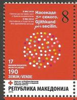 MK 2016-ZZ176 RED CROSS, MACEDONIA, 1 X 1v, MNH - Mazedonien
