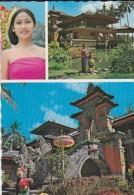 ASIE----INDONESIE--gadis Bali Dan Art Centre Di,bali--voir 2 Scans - Indonésie
