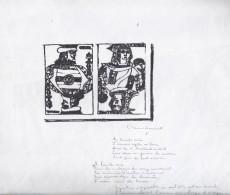 Deux Reproductions De Cartes à Jouer Un Poème De Paul Eluard Au Crayon - Ohne Zuordnung
