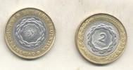 REPUBLICA ARGENTINA MONEDA DE 2 PESOS AÑOS 2010 O  2011 O 2014  O 2016 BIMETALICA  ORIGINAL - EN UNION Y LIBERTAD