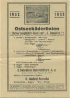Fahrplan Der Ostseebäderlinien 1932 - Stettiner- Und Swinemünder Dampschiffahrts Gesellschaft AG - Seedienst Ostpreußen - Europa