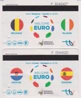 2 Pass Jour Pour Bus Et Tram Bordeaux, Spécial Football Euro 2016 2 Matchs Collector - Tram