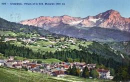 CPA CHESIERES - VILLARS ET LE GRD MUVERAN - VD Vaud